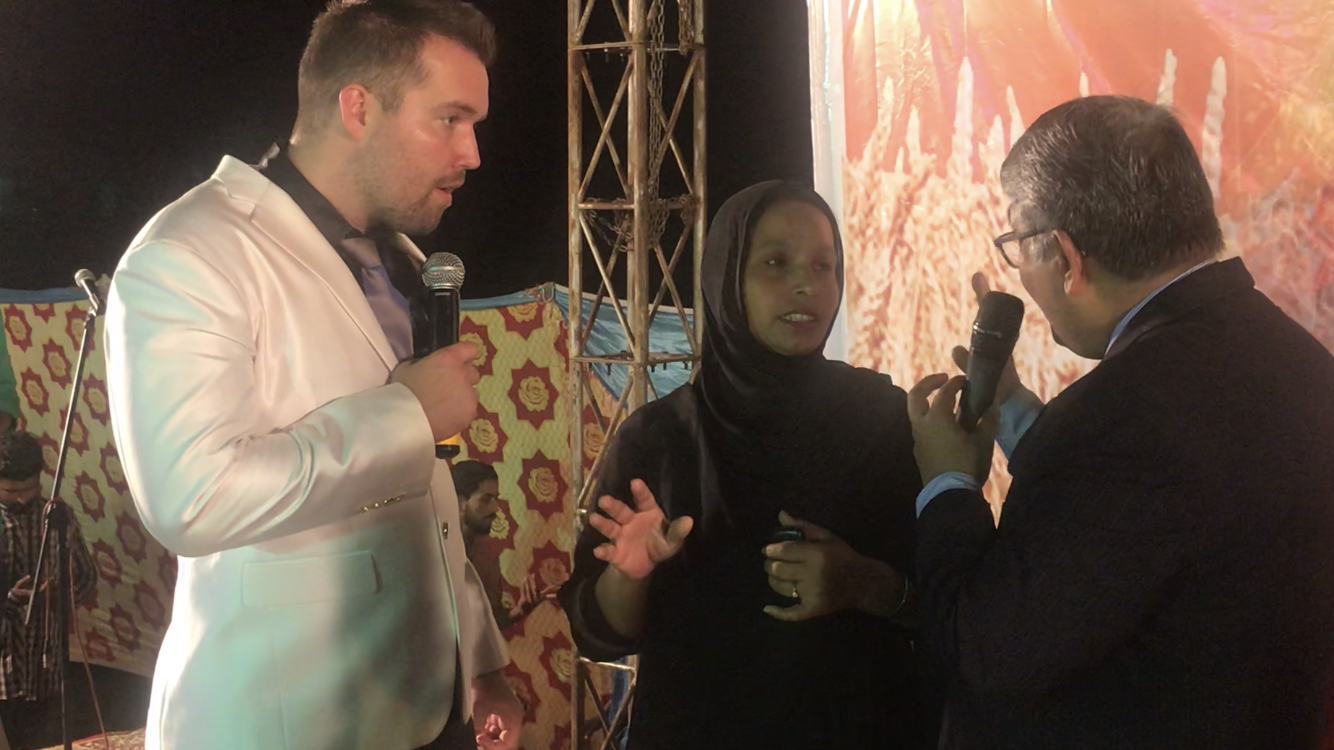 Woman healed of blindness